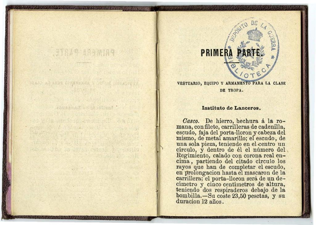 "casco - Casco Mod. 1875 de Oficial de Lanceros del Regimiento Nº1 ""del Rey"". Regl_Unif_Caballeria_1875_pp05"