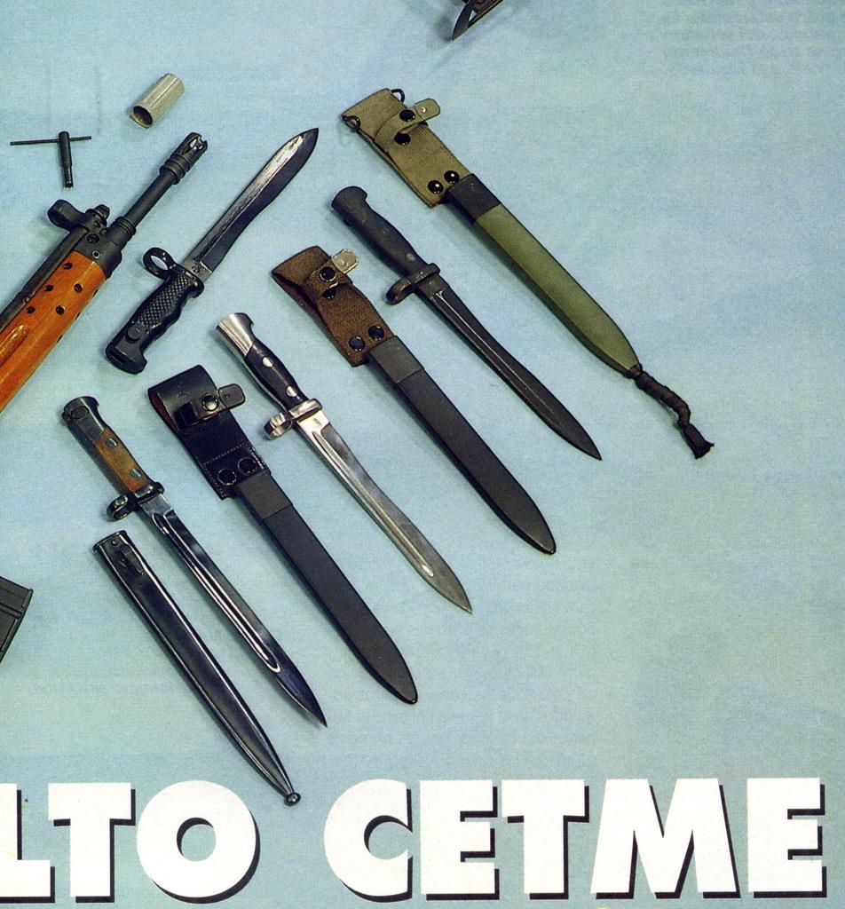 """Bayoneta CETME C para la Guardia Civil y """"de Exportación"""". Diferencias. Armas_n_158_pp007_bayonetas"""