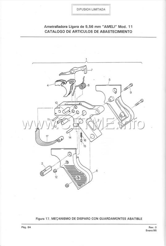 MT7-606 MANUAL TECNICO - CATALOGO DE PIEZAS. AMETRALLADORA LIGERA 5,56 mm, mod. 11 Manual_Tecnico_AMELI_mod11_pp084