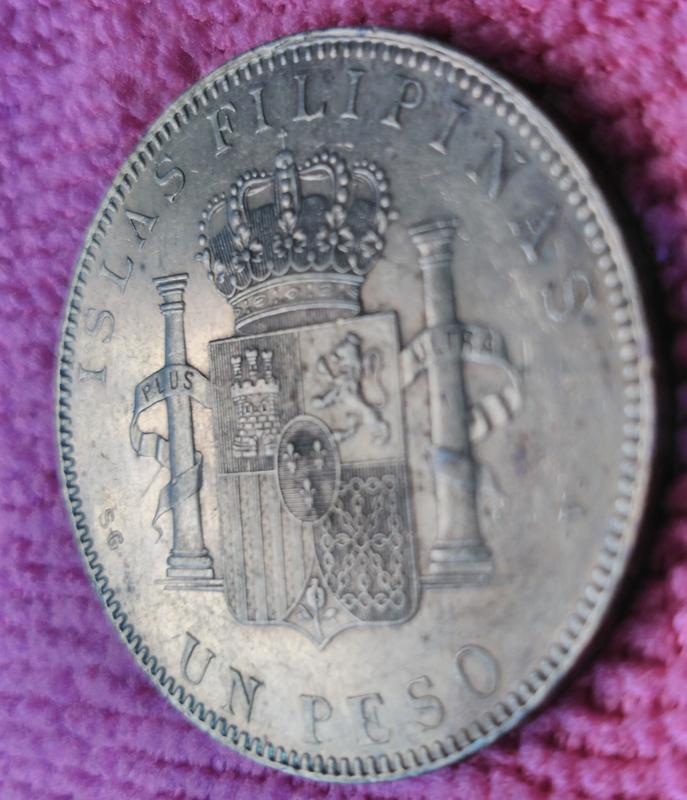1 Peso 1897 Alfonso XIII. Islas Filipinas. SGV IMG_20180814_162445