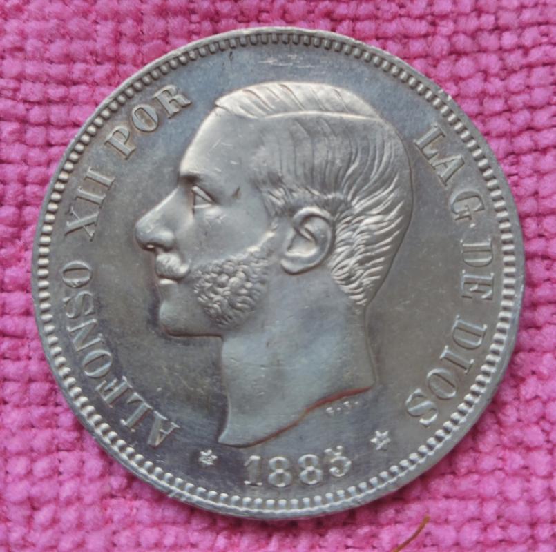 5 pesetas 1885 (*18-85). Alfonso XII. MSM IMG_20180713_105648