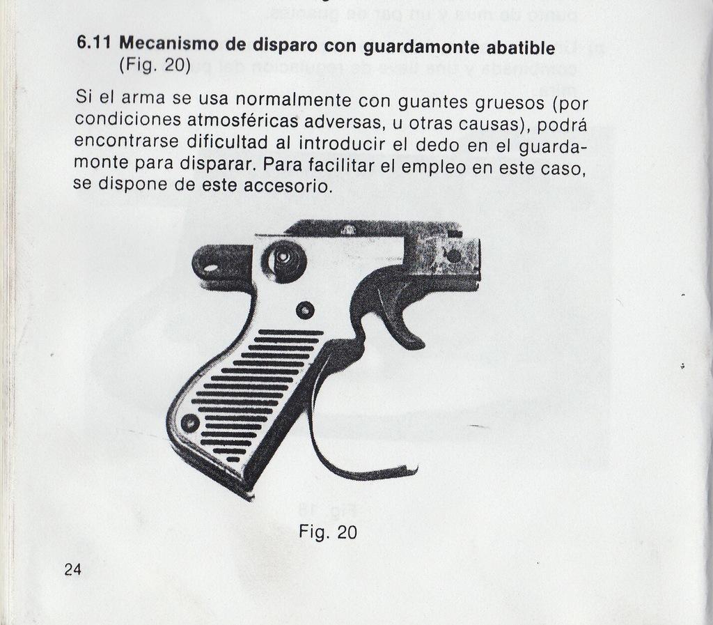 Mecanismo de disparo con guardamonte abatible. MT_1005_016_10_024b