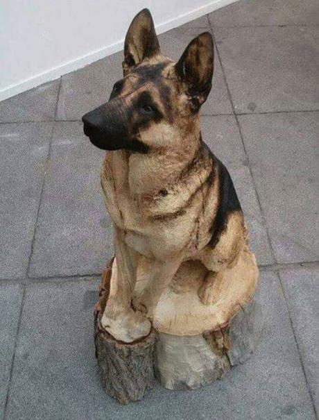 the all Dog thread! [2] - Page 29 Alsation_wood_carving