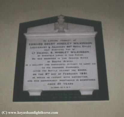 This section is dedicated to the Keynsham Light Horse EOHWilkinson_mem_-_Copy