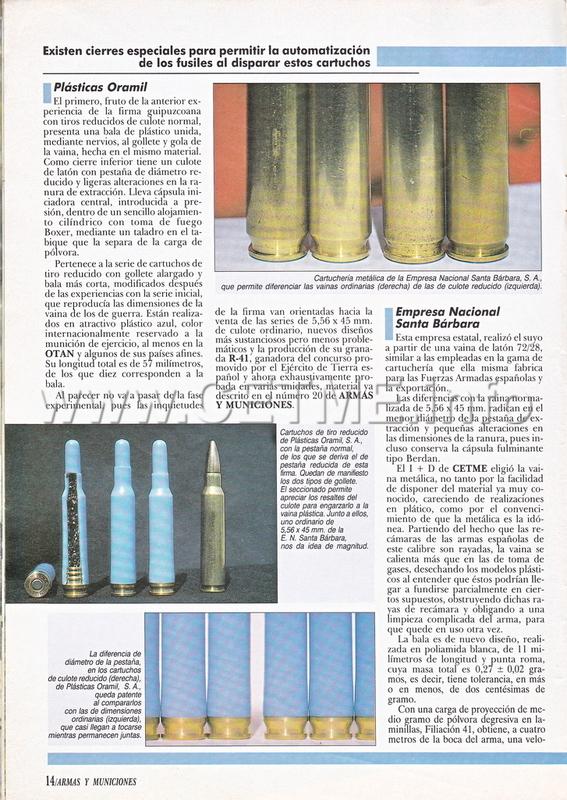 Cartuchos de Tiro Reducido españoles. Revista Armas y Municiones número 34 A_M_034_pp014