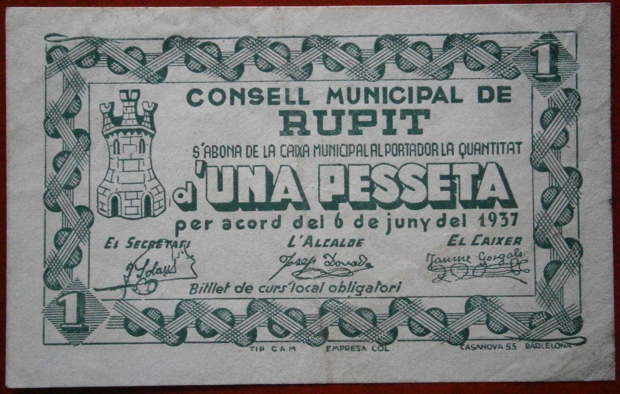 1 Peseta Rupit 1937 (Barcelona) 018