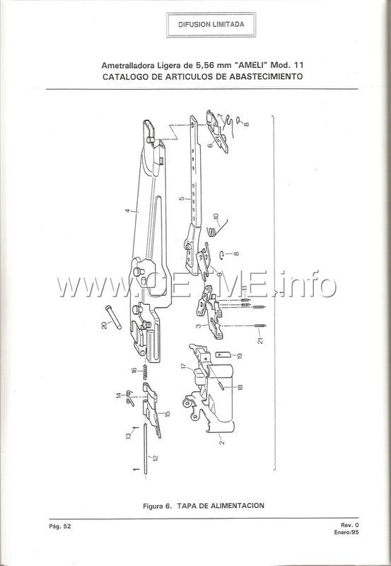 MT7-606 MANUAL TECNICO - CATALOGO DE PIEZAS. AMETRALLADORA LIGERA 5,56 mm, mod. 11 Manual_Tecnico_AMELI_mod11_pp052