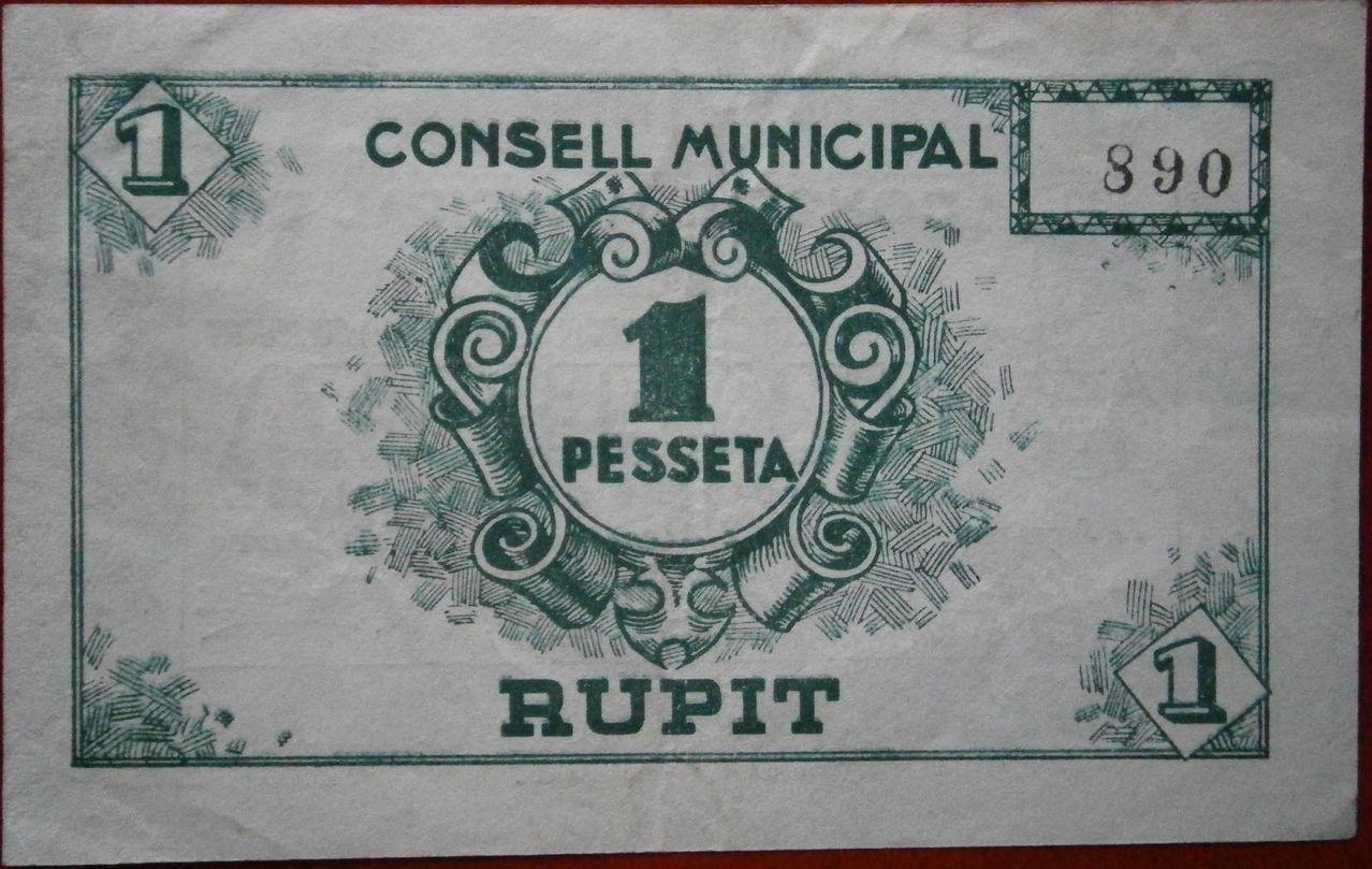 1 Peseta Rupit 1937 (Barcelona) 019