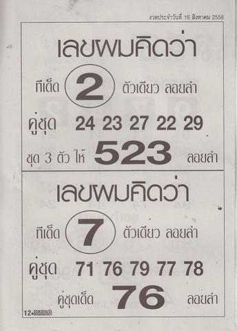 16 / 08 / 2558 MAGAZINE PAPER  - Page 2 Lekloylam_12