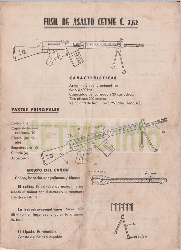 Folleto descriptivo del Fusil de Asalto B Mod.58 Folleto_Descriptivo_CETME_58_001b
