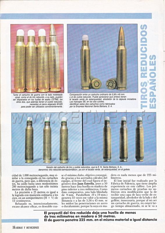 Cartuchos de Tiro Reducido españoles. Revista Armas y Municiones número 34 A_M_034_pp015