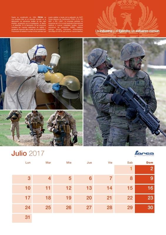 español - Noviembre de 2014 - Diciembre de 2016. Nuevo casco de combate para el Ejército español. - Página 2 CALENDARIO_ET_2017_p8_Juliojpg_Page8