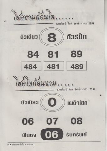 16 / 08 / 2558 MAGAZINE PAPER  Huaythongkam_8