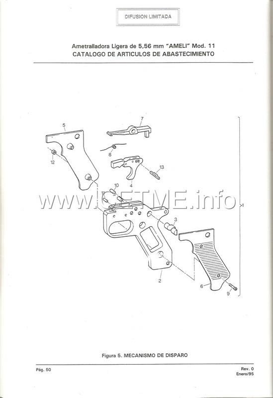 MT7-606 MANUAL TECNICO - CATALOGO DE PIEZAS. AMETRALLADORA LIGERA 5,56 mm, mod. 11 Manual_Tecnico_AMELI_mod11_pp050