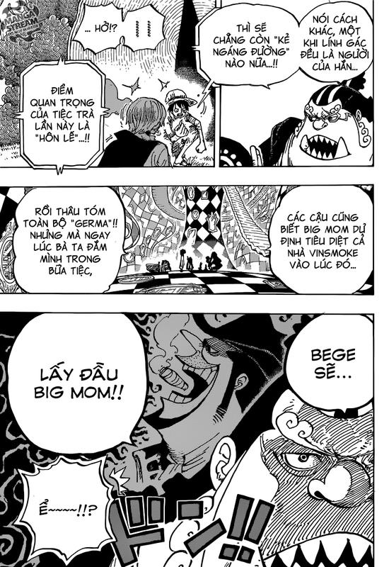 One Piece Chapter 857: Quân xe Image