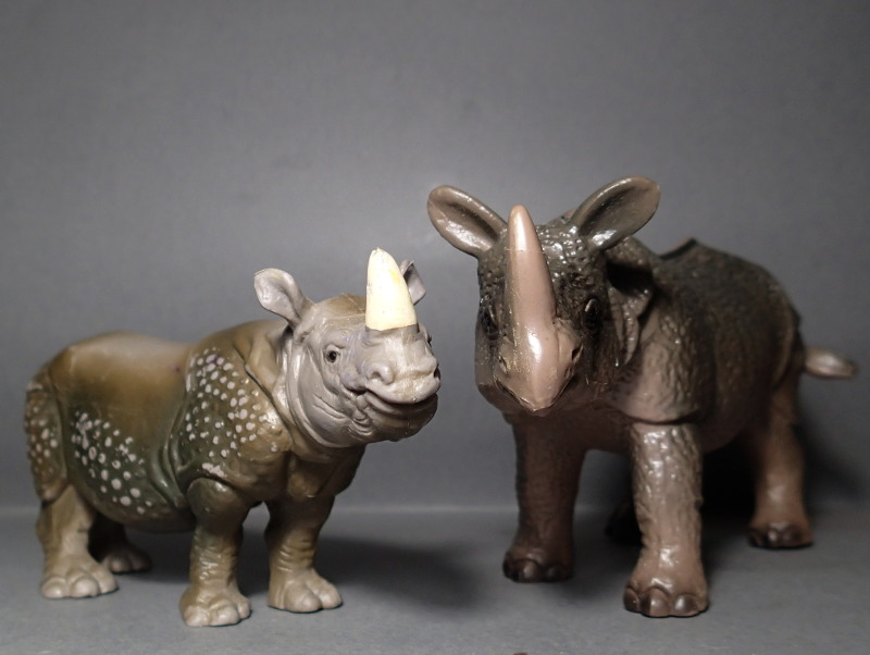 The Javan rhino from Bullyland :-) Bully_Rhino_Comp_Sch_Adult_Nose