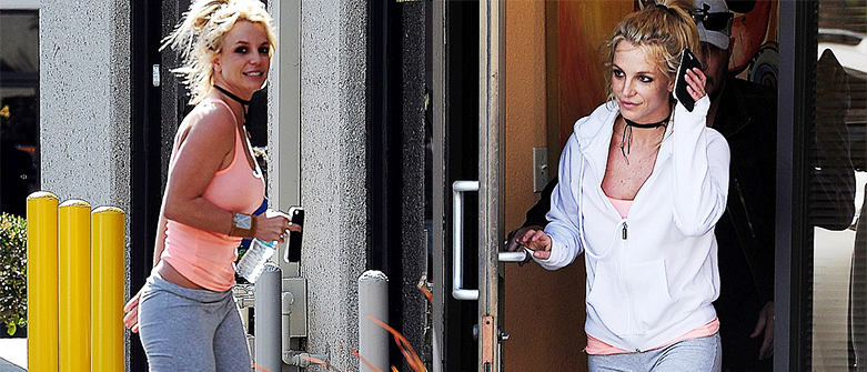 Britney vista num estúdio de dança Britneydancde