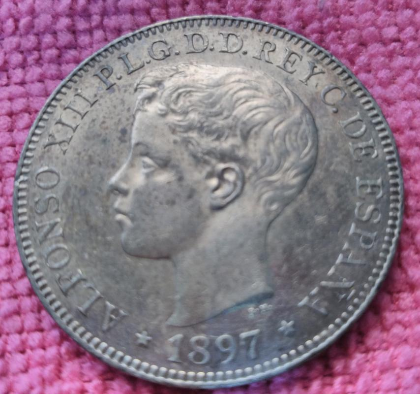 1 Peso 1897 Alfonso XIII. Islas Filipinas. SGV IMG_20180814_162319