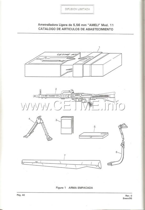 MT7-606 MANUAL TECNICO - CATALOGO DE PIEZAS. AMETRALLADORA LIGERA 5,56 mm, mod. 11 Manual_Tecnico_AMELI_mod11_pp040
