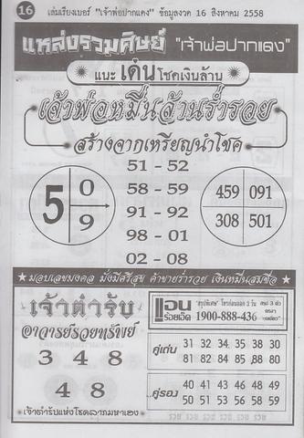16 / 08 / 2558 MAGAZINE PAPER  Jaoporpakdang2_16