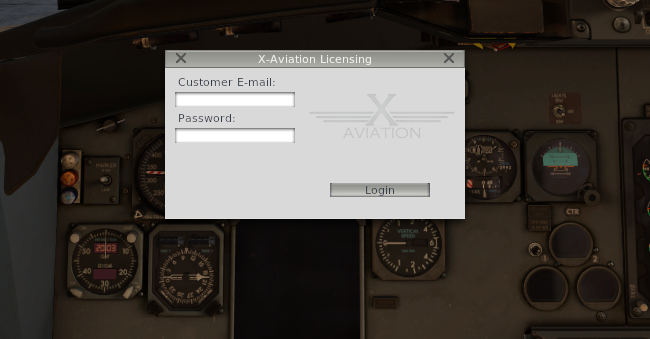 Ixeg 737 licença não entra. B733_2