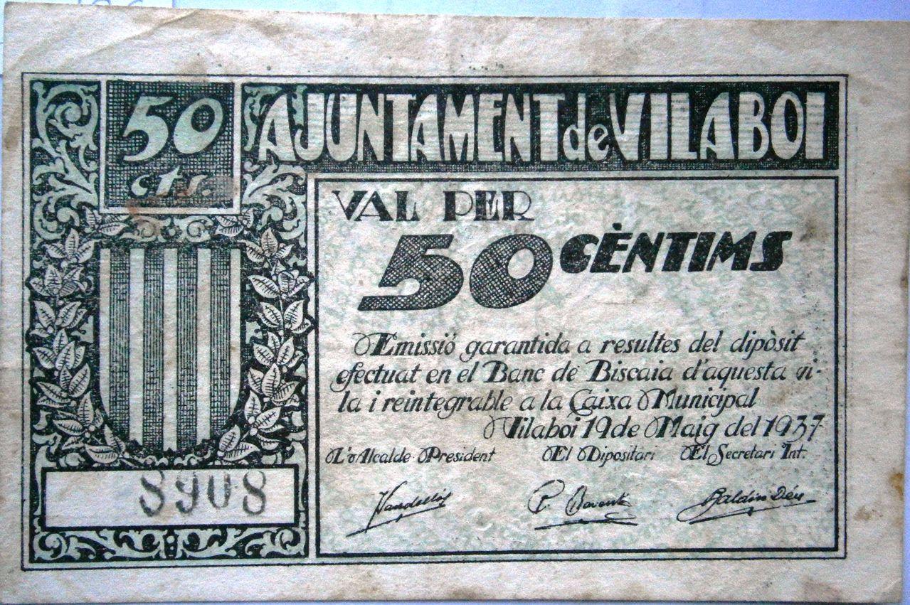 Vilaboi Actualmente Sant Boi de LLobregat 50 Centimos Guerra Civil P1010001