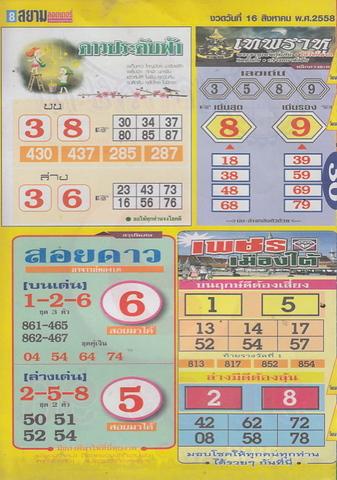 16 / 08 / 2558 MAGAZINE PAPER  - Page 4 Siamlottery_8