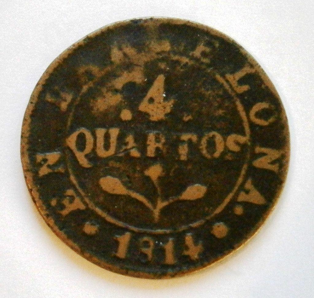 4 Cuartos de Barcelona 1814 Jose Napoleon  P1010017
