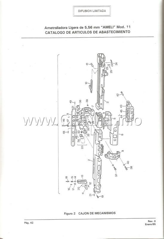 MT7-606 MANUAL TECNICO - CATALOGO DE PIEZAS. AMETRALLADORA LIGERA 5,56 mm, mod. 11 Manual_Tecnico_AMELI_mod11_pp042