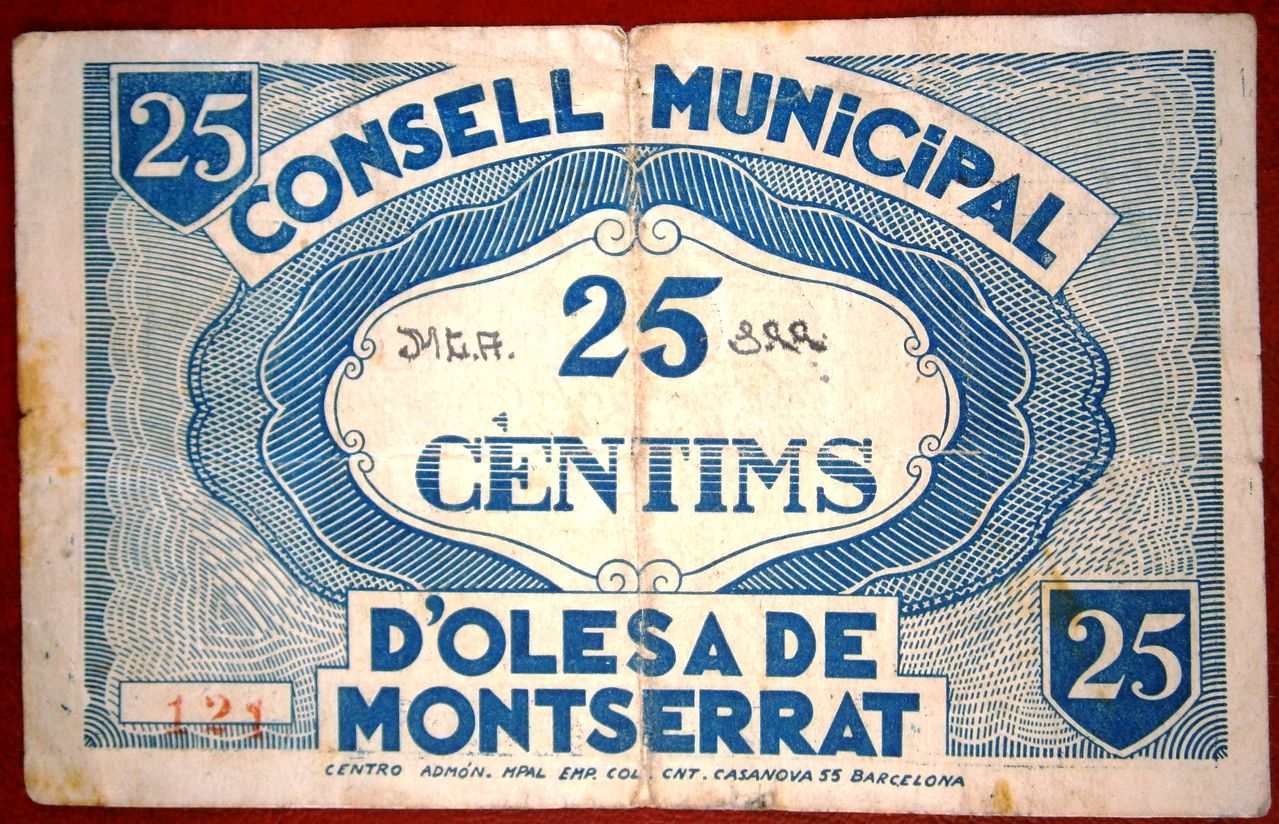 Olesa de Monserrat 25 Céntimos 1937  P1010002