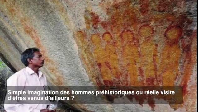 Ces peintures découvertes en Inde représentent-elles des extraterrestres ? GNUkU