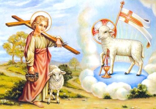 Le Symbolisme Chrétien - 19 eme siècle - Angleterre ( Images) AGNEAU-JESUS