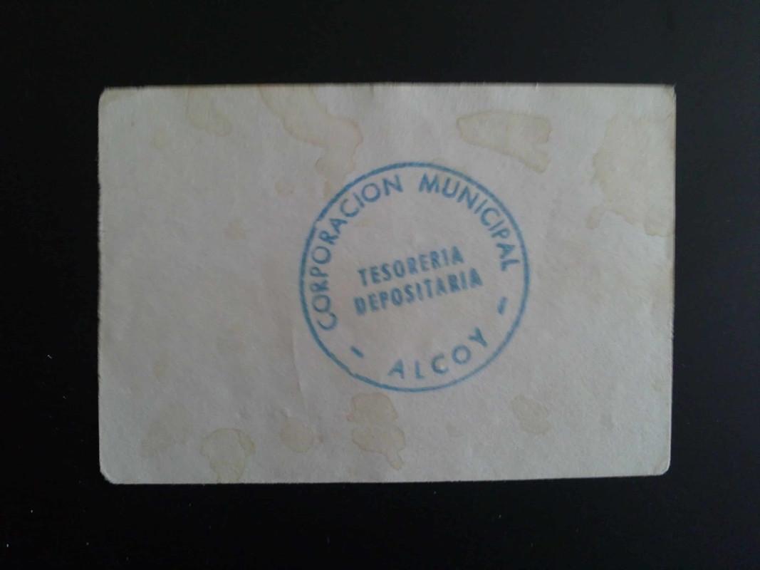 1ª emision 25 centimos de Alcoy, 8 Febrero 1937 14012013981
