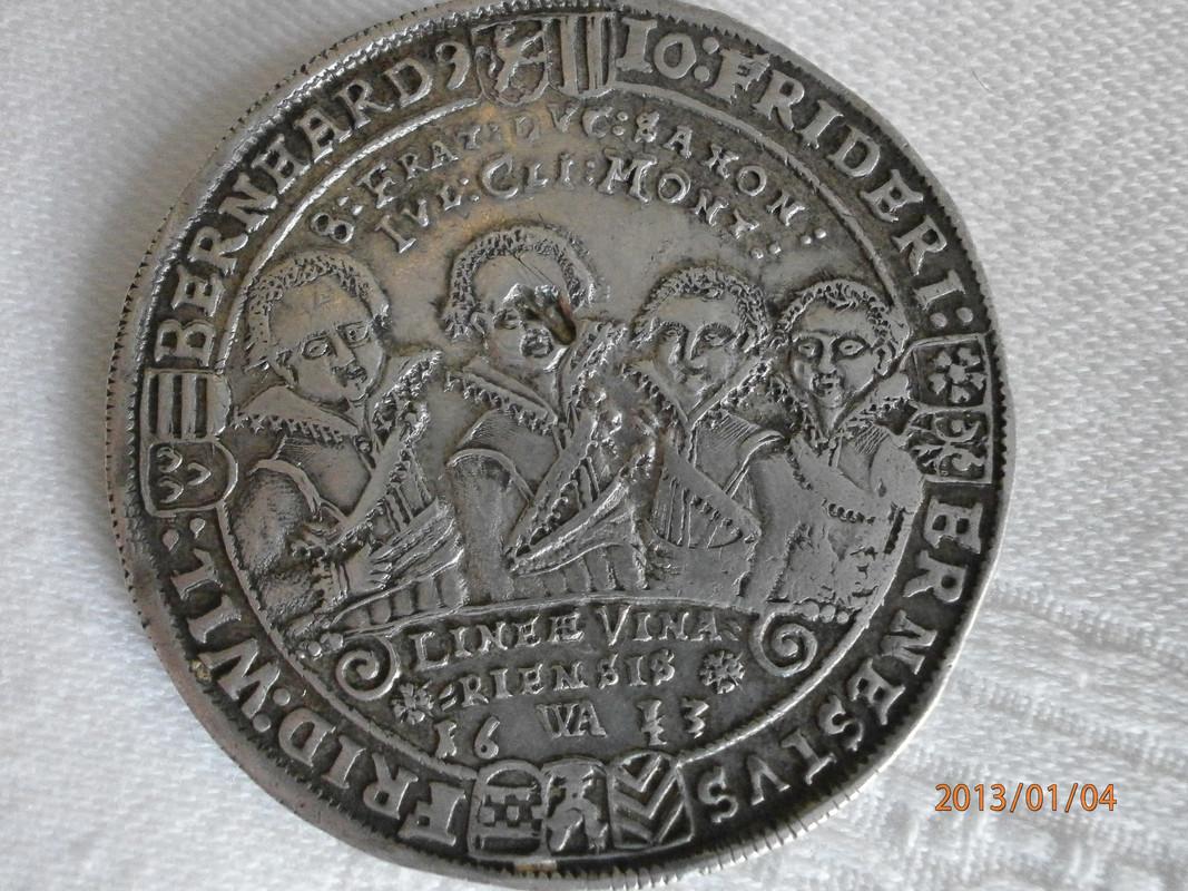"1 Thaler ""8 hermanos"". Sajonia (Alemania). 1613 P1040012"