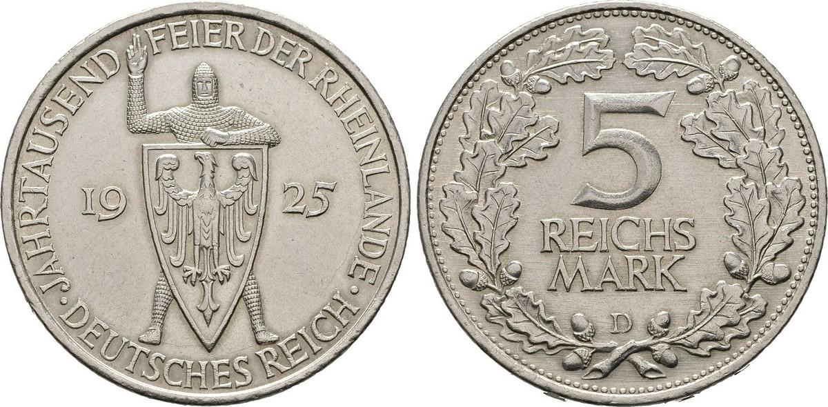 Monedas Conmemorativas de la Republica de Weimar y la Rep. Federal de Alemania 1919-1957 - Página 2 1925_D