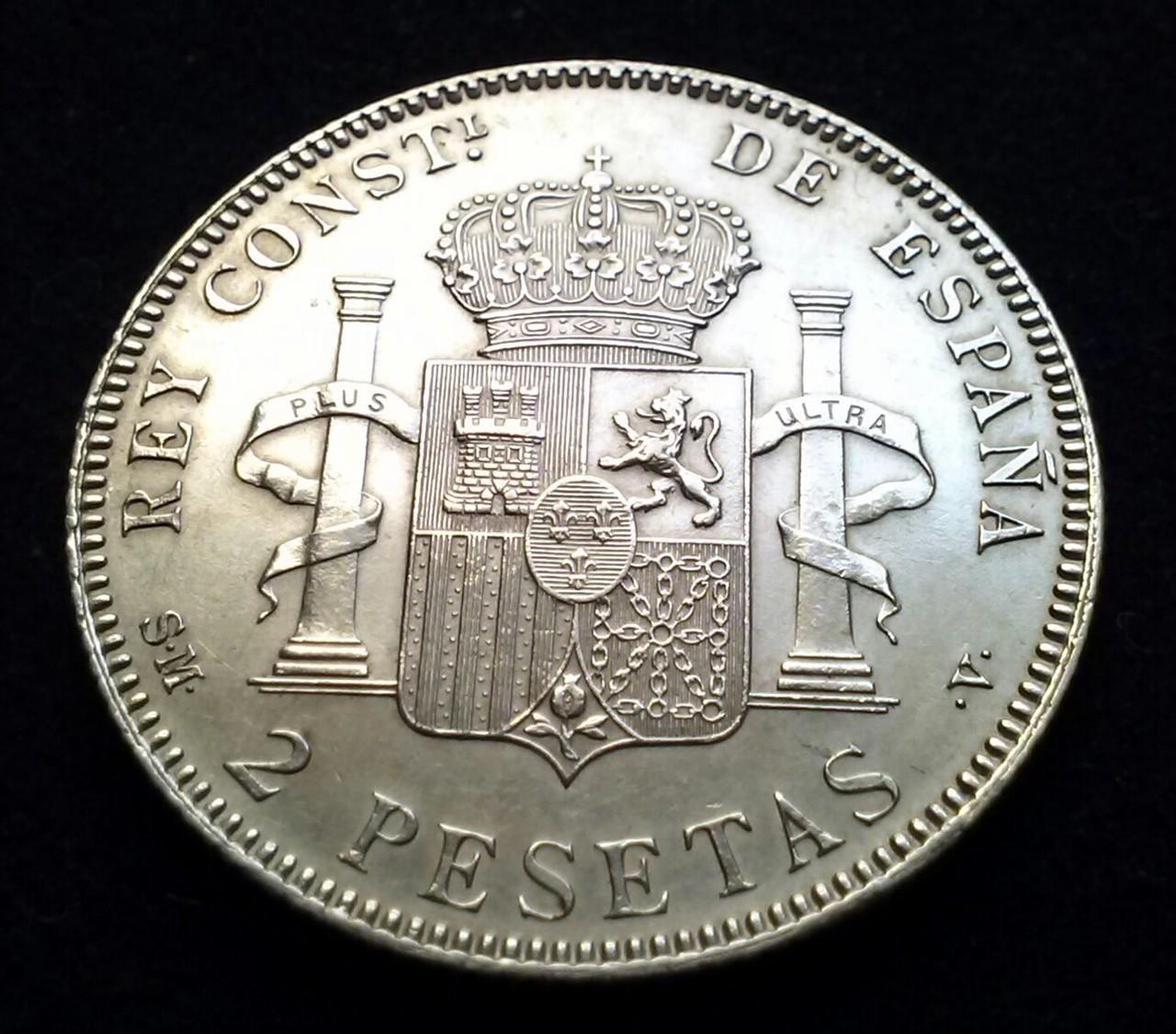 2 pesetas 1905 SMV Madrid,Alfonso XIII,DEDICADA a Estrella 76 CAM00830_1
