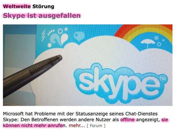 Fundstücke und 'Hinweise' auf den bevorstehenden heißen Krieg?! Skype