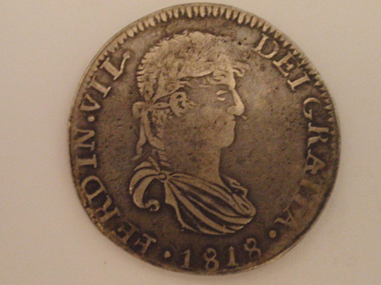 8 reales 1818 Zacatecas James Franco in sua memoria dedit. 8_reales_015