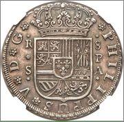 8 Reales 1735 Felipe V  Sevilla Image