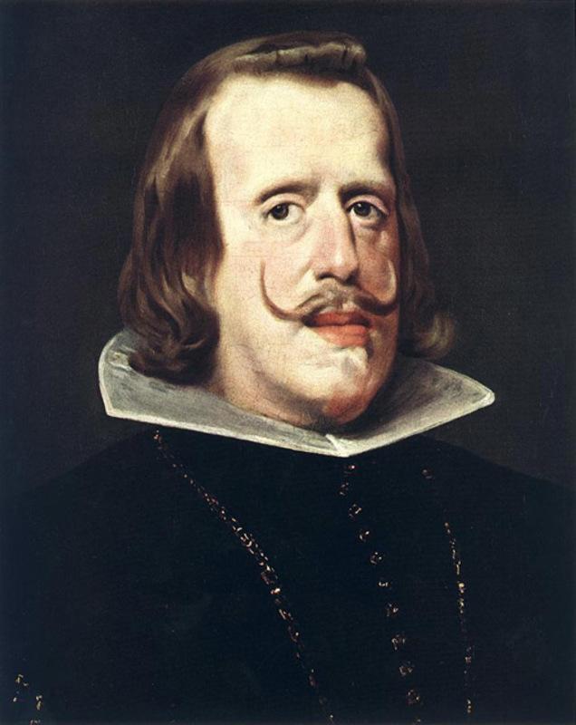 Jetón de Felipe IV. Amberes. 1661. La Paz, fuente de Prosperidad. Nacimiento de Carlos II. Felipe_iv_l2_1
