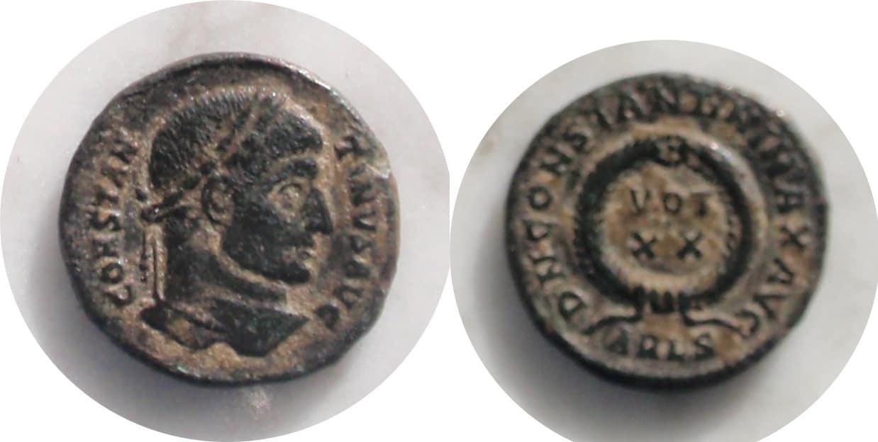 AE3 de Constantino I Consanv