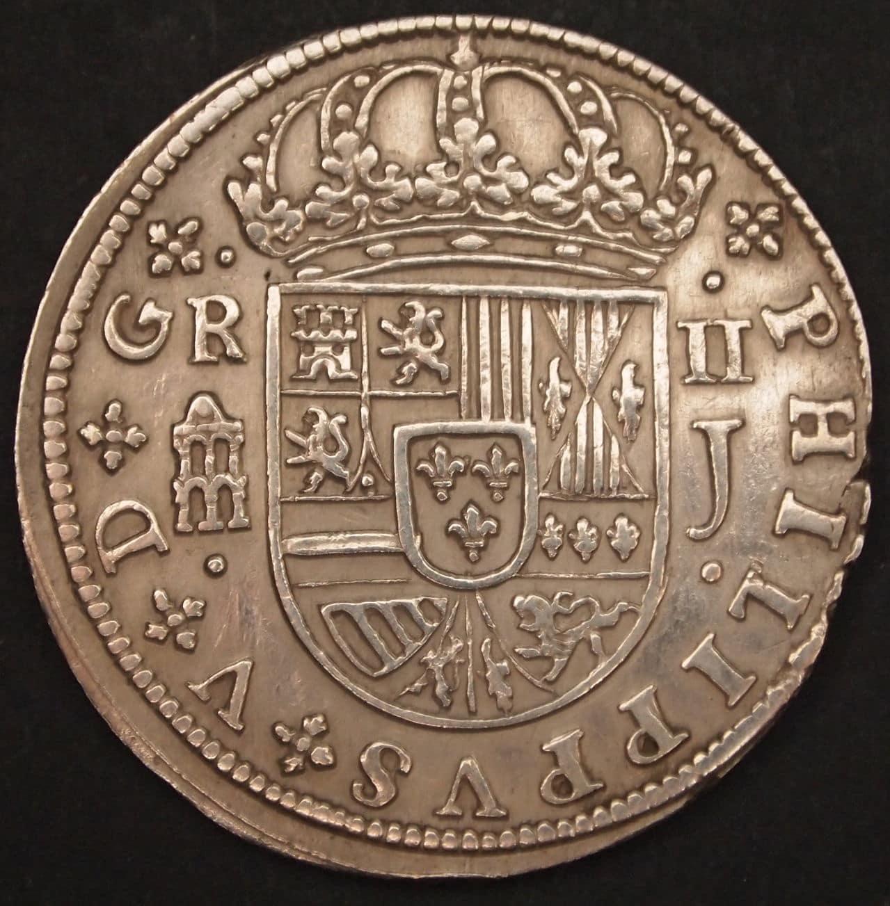 2 reales Felipe V 1718 1