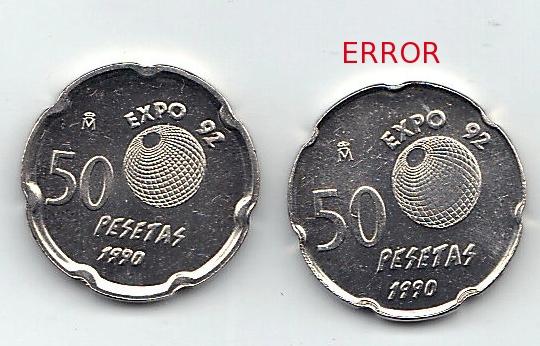 50 pesetas 1990.  Juan Carlos I - Error de pantografo 50_pesetas_error_de_Pant_grafo_1990_vendida_b