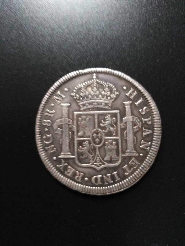 8 reales 1816. Fernando VII. Guatemala Image