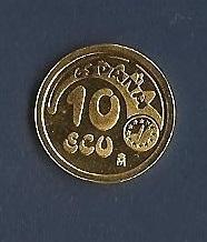 PRECIOSA MONEDA DE 10 ECUS ORO 1989. MUY BONITA Imagen_103
