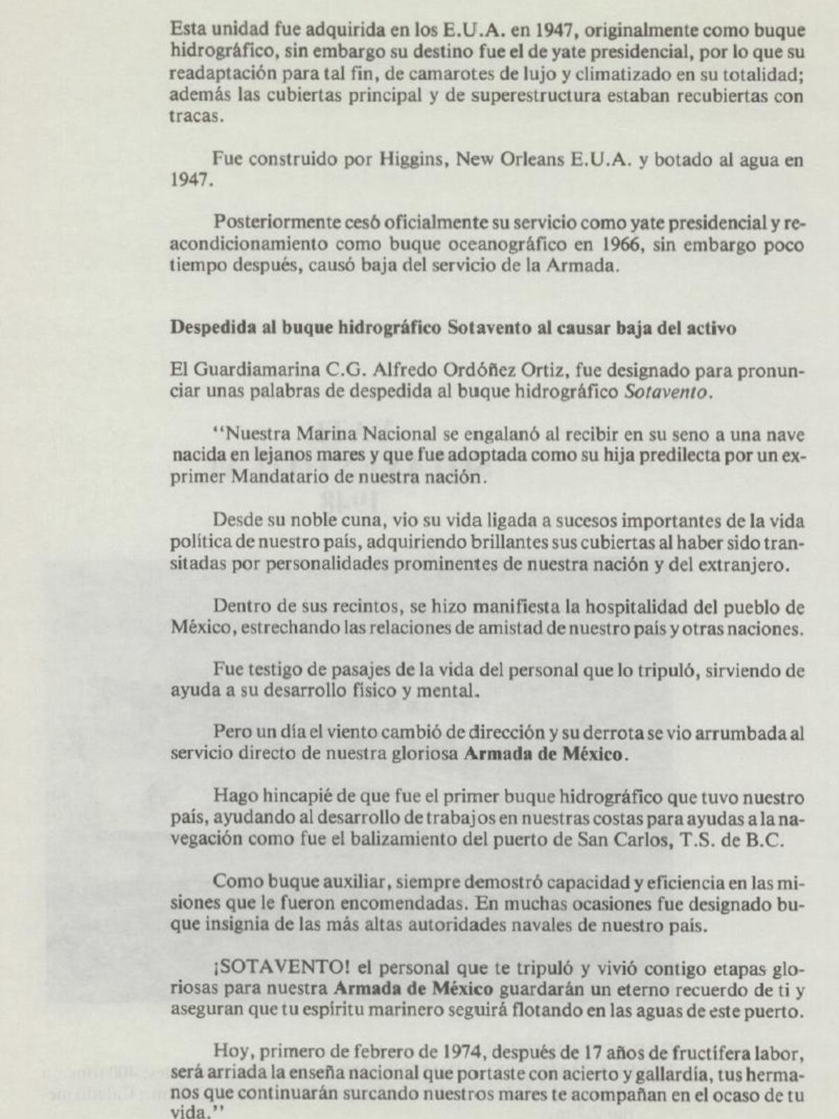 YATES PRESIDENCIALES – YATE SOTAVENTO – ARMADA DE MEXICO - 1948 Page_1_FINALYATESOTAVENTO1974
