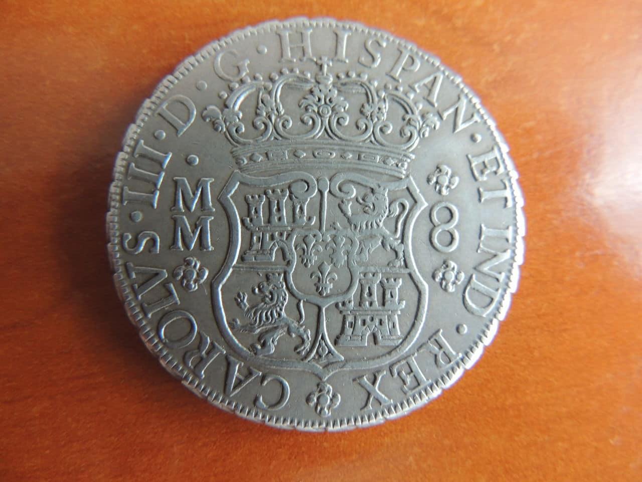 """8 reales """"columnarios"""" 1761. Carlos III. Méjico. (Regalo de bodas). DSCN1002"""