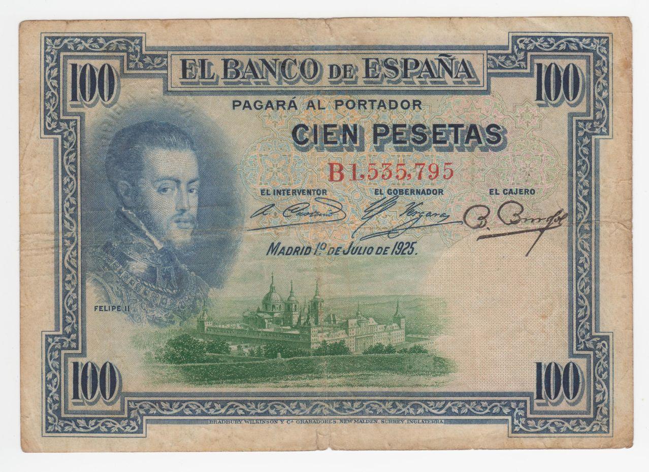 100 Pesetas 1925 (Tres sellos secos:Arriba España, Burgos y República) 100_pesetas_1925_tres_sellos_seco