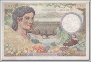 1000 Francs Argelia, 1942 Algeria_P89_1000_francs_1942_R