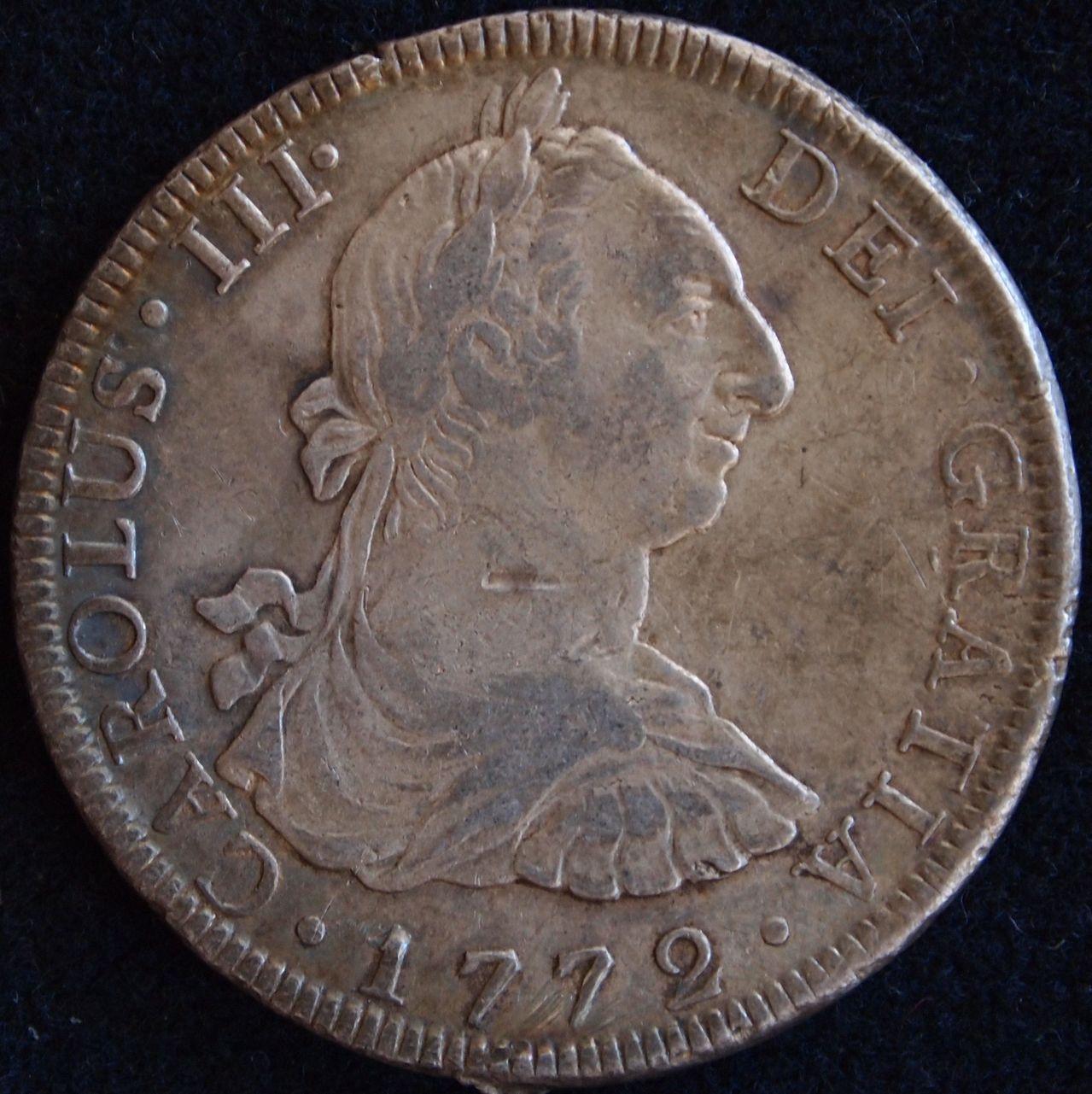 8 reales Carlos III Mexico 1772 1